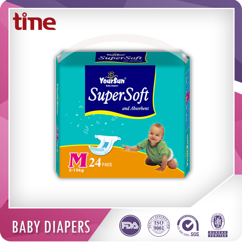 High Absorption Breathable Soft pe film magic tape disposable baby diaper