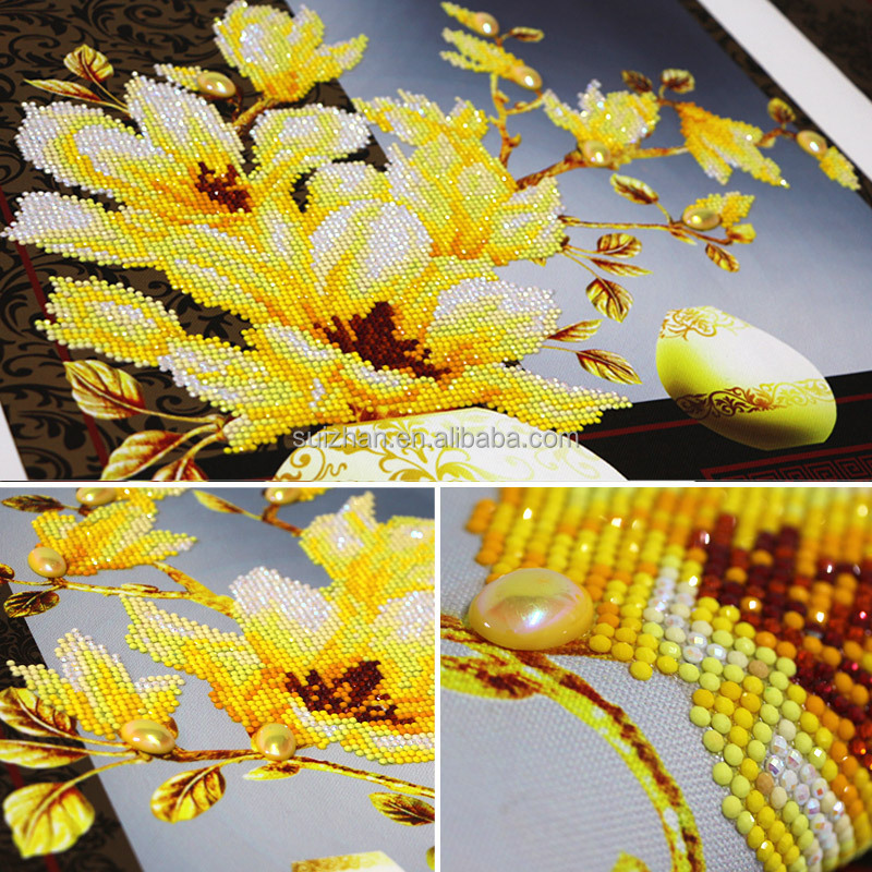 Special Shaped Diamond Embroidery Flower Magnolia 5D Diamond Painting Cross Stitch 3D Diamond Mosaic Decoration Christmas