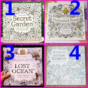 2016 Popular Factory Wholesale Secret Garden Coloring Book