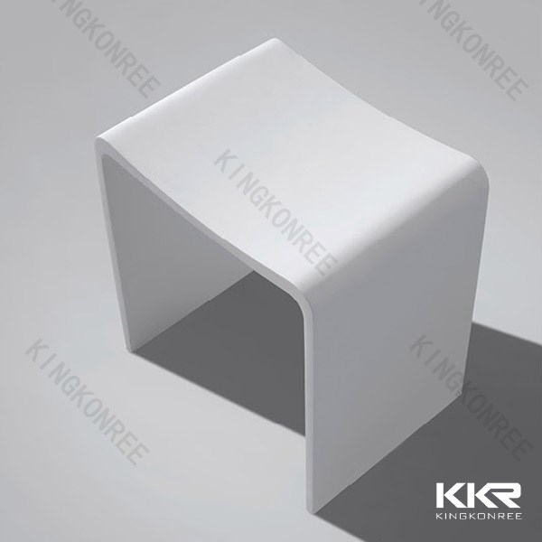 KKR artificial stone acrylic shower bench/acrylic shower stool