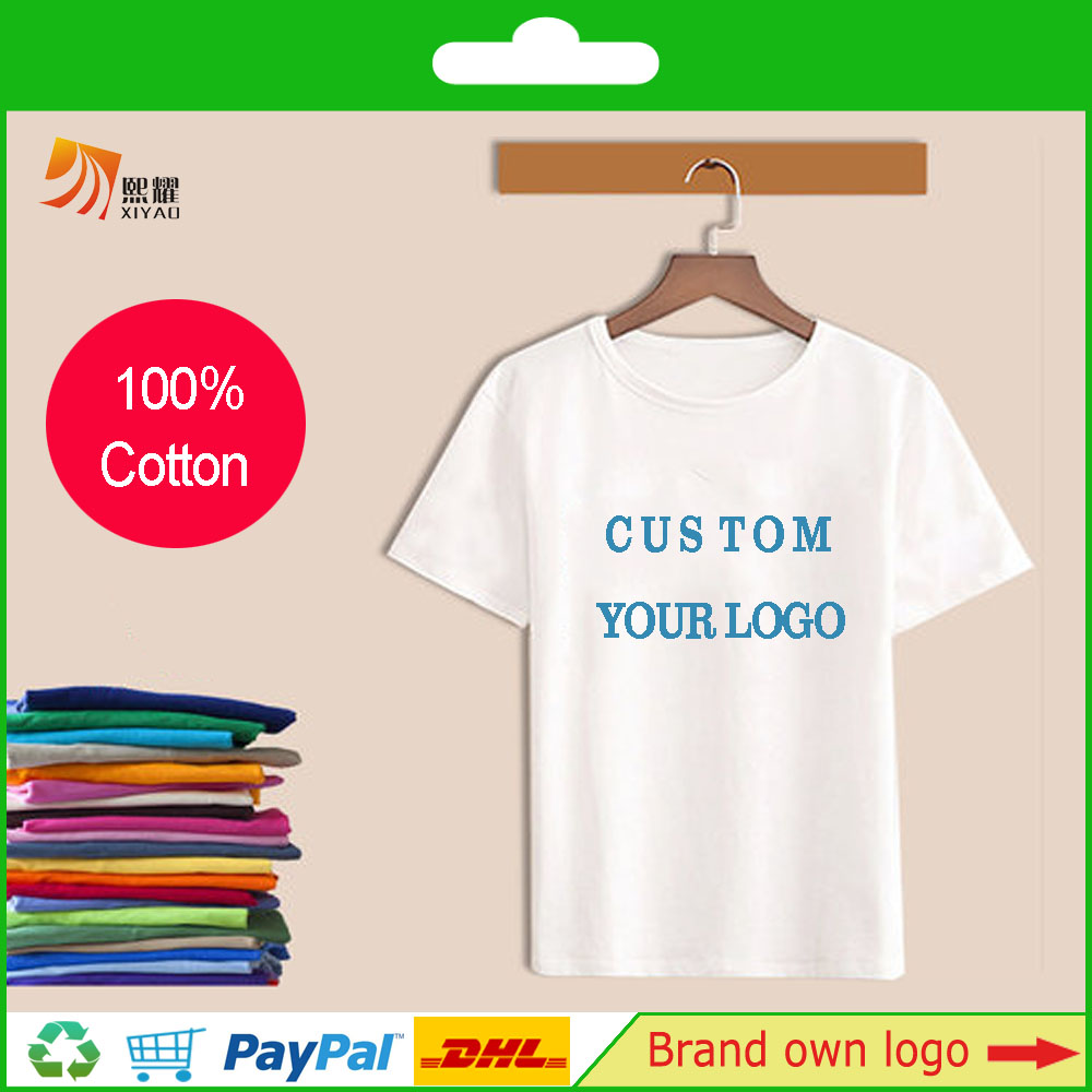 Custom T shirt Pure Cotton With Own Logo Printed