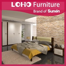 Hotel Furniture Type and Modern Appearance hotel room bedhead panel wood frame upholstery bedhead panel up