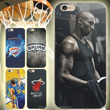 For iPhone 7 Case Fashion NBA Basketball Star Phone Cases For iPhone 6 6s Plus 7 7Plus Jordan Shell Back Cover Capa