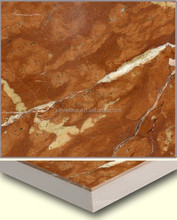 Rosso Alicante marble stone ceramic composite tiles for wall cladding,roof,and flooring