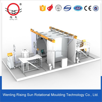 automatic rotational molding machine pulverizing machine plastic fuel tank