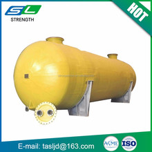 SL brand ISO ASME horizontal 50m3 20ton customized underground fiberglass double wall diesel oil fuel storage tank