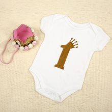 Baby Clothing 1 Year Old Girl Birthday Infant Bodysuit Baby Jumpsuit