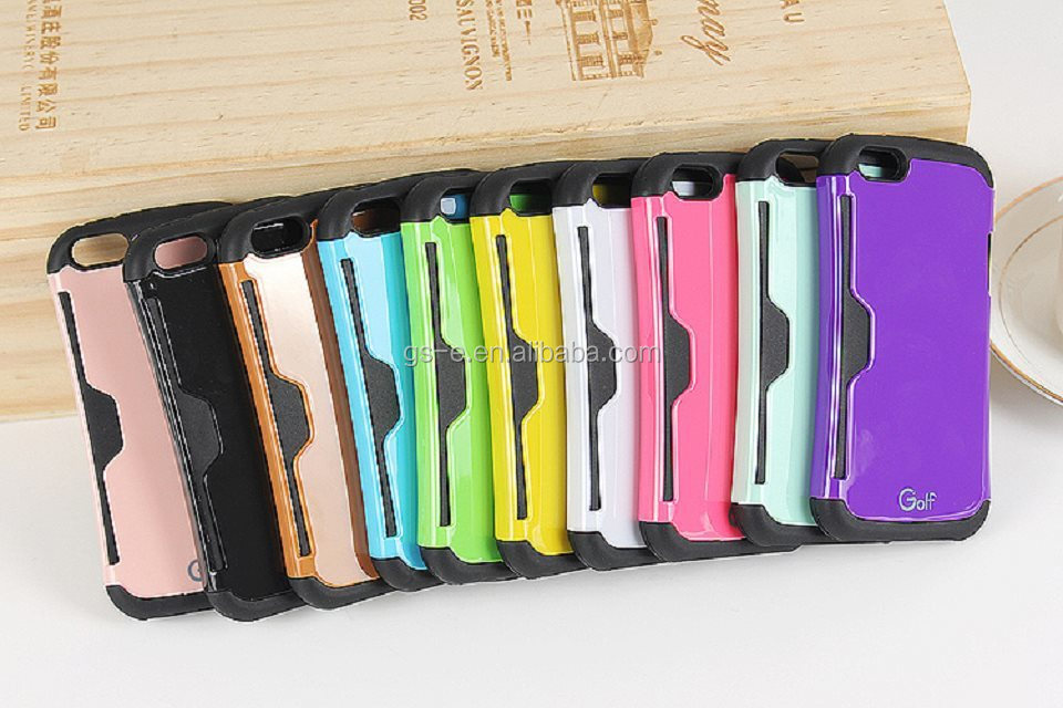 Ultra Thin Slim Wallet Cash Credit Card Mobile Phone Case for iPhone 5 5C 6