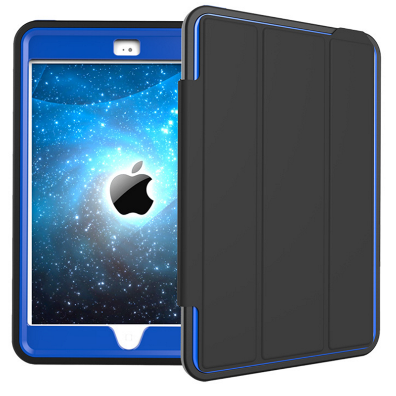 Original design foldable wake sleep book leather flip cover for iPad mini 4 defender case factory direct
