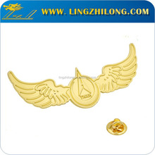 Gold plated eagle logo lapel pin with your own logo