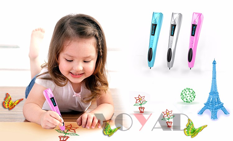 Latest Child gift toy 3D Pen Drawing Colorful 3D Printing Pen 3D Pen Printer