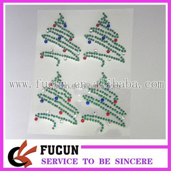 Acrylic Rhinestone Sticker for Christmas Decorative