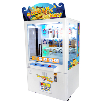 Elong claw crane machine pile up prize game machine toys gift game machine Golden key