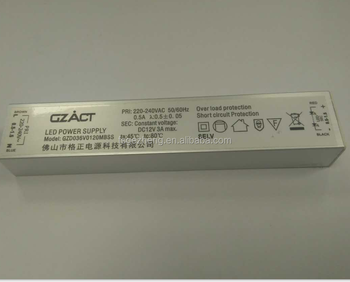 EXPERIENCED factory Isolated long thin size 12v 24w constant voltage led driver metal case 2a led driver