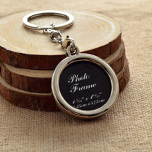 New arrival metal round photo frame key chains