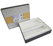big premium gift box packaging recycled custom inner stray material