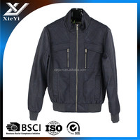 Wholesale custom fashion man winter PU leather jacket