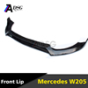 Mercedes C Class W205 Front bumper carbon fiber front lip for W205 AMG or with AMG line 2015 - 2016 model