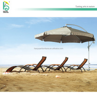 PE rattan wicker lounge outdoor beach lounge chair