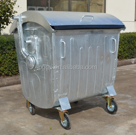 1100L Garbage Container with 200mm Heavy-duty Wheels
