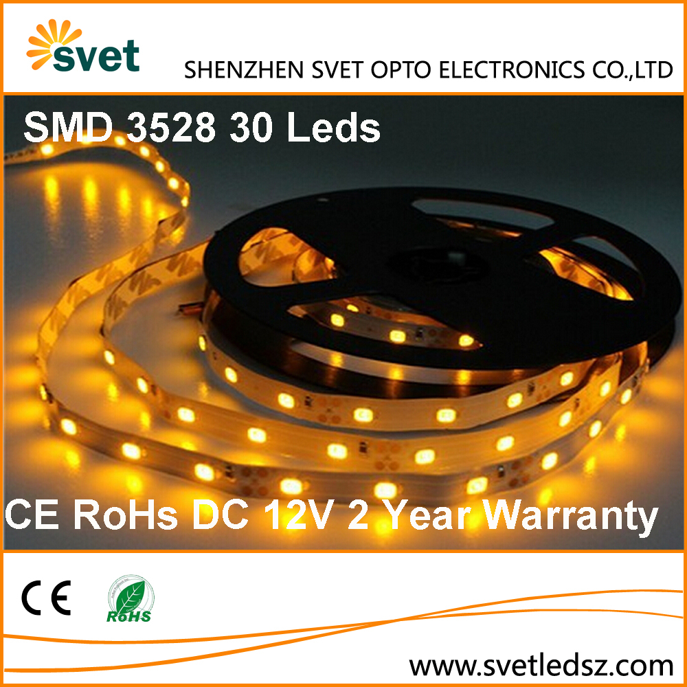2 Years Warranty CE RoHs SMD 3528 30 Leds Digital High Lumens Output Double Sided Led Strip Light