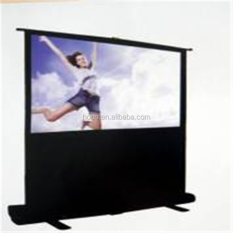 "100"" diagonal VEGA brand Portable screen 49""x87""/Outdoor Roll-up Floor Standing Screen for Cinema Projection"