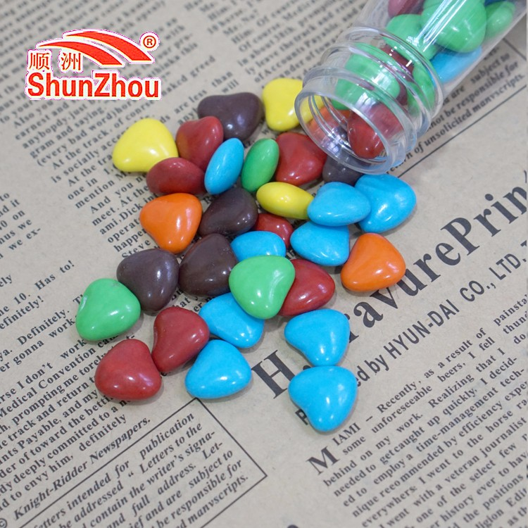 145g beer shape bottle heart shape colorfulr coated sweet crispy chocolate beans
