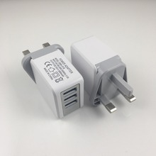 High Quality Mobile Phone Accessories Universal Travel Charger UK Plug 3 Port USB Charger