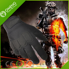 2015 New Black Full Finger Racing Cycling Nylon Men Tactical Gloves