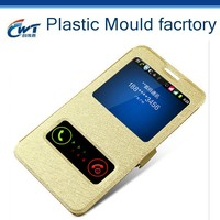 leather phone cover for iphone 6 with window, CWT Hot Selling leather phone cover