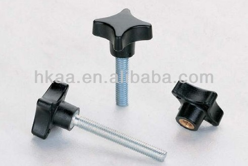 ISO 9001:2008 star knob thumb screw metal and plastic fabrication service