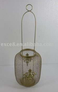 Gold wire metal Lantern