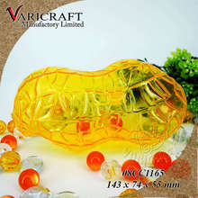 100% Food Grade Clear Plastic 3D peanut shaped jar / candy container / gift box