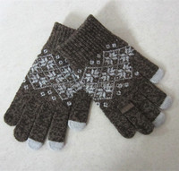 winter acrylic touchscreen hand gloves any size