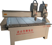 Double spindles CNC wood carving machine/wood door sculpture cnc carving machine1625 with two spindles price