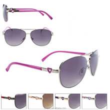 Fashion Lady Women Metal Frame Aviators Sunglasses