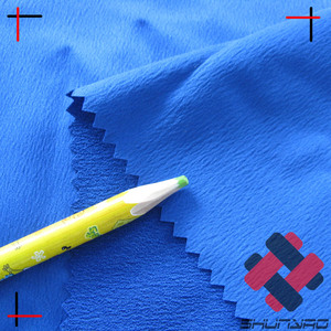 false twisted mechanical stretch polyester dull heavy spandex satin crepe fabric