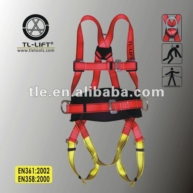 Wholesale European and American Standard Safety Belt Full Body Harness to EN361 EN358 Made In China