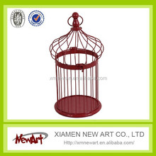 small bird cage wire mesh antique round metal bird cage wedding decoration