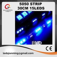 yellow 5050 smd 30cm 15 LED strip light with 12V for car truck use