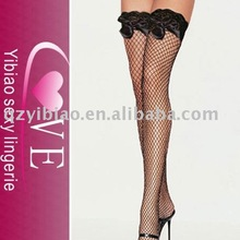 wholesale black fishnet japanese hot girls sexy stockings with bowknot