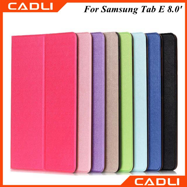 2016 new arrival PU leather stand phone Case for Samsung Galaxy Tab E 8.0""