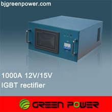 9000A process curve setting 12v ac to dc galvanic rectifier with timer for tin plating