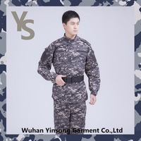[Wuhan YinSong] Wholesale ACU military universal army combat uniform of digital navy camouflage