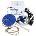 CTSC 95' Fun Zipline Kit with SEAT and BRAKE - BAT Trolley-Ultimate Safety- CE & RoHS Certified- Easy Assembly Sports Safety