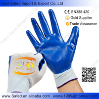 micro sandy foam nitrile coated work gloves