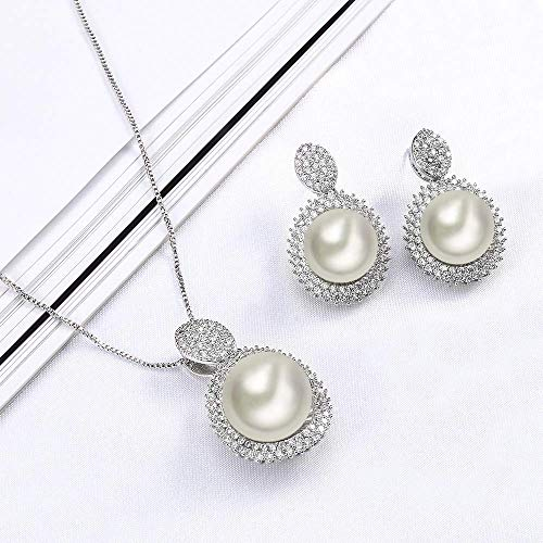 OB Jewelry-Fashionable Wholesale Price Bridal Jewelry Set Imit Pearl Jewelry Set For Women