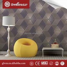 10M Embossed modern design Feature Non-woven Wallpaper Roll Bedroom
