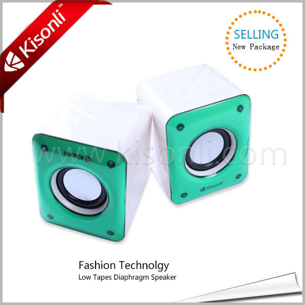 Promotional Portable USB2.0 Mini Computer Active Subwoofer Speaker Box