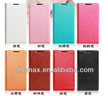 2014 New arrival leather case for sony xperia , flip case for sony-ericsson xperia arc s